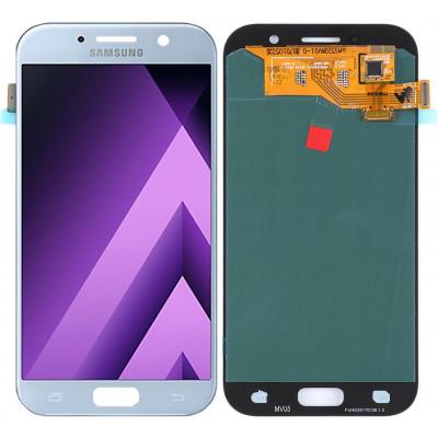 Дисплей для Samsung Galaxy A5 (A520 2017) в сборе с тачскрином, голубой