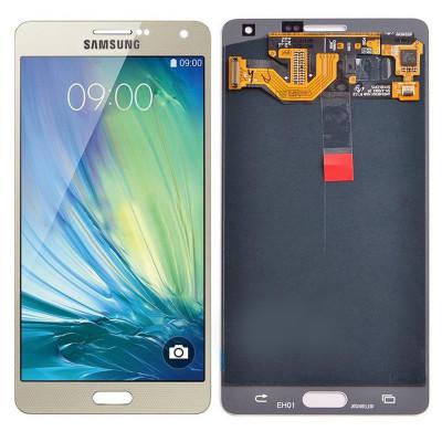 Дисплей для Samsung Galaxy A7 (A700F) в сборе с тачскрином, золотой