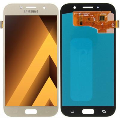 Дисплей для Samsung Galaxy A7 (A720 2017) в сборе с тачскрином, золотой