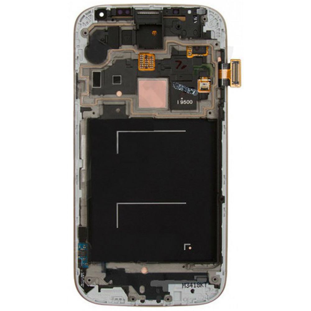 Дисплей для Samsung Galaxy S4 (GT-I9500) в сборе с тачскрином и рамкой, черный