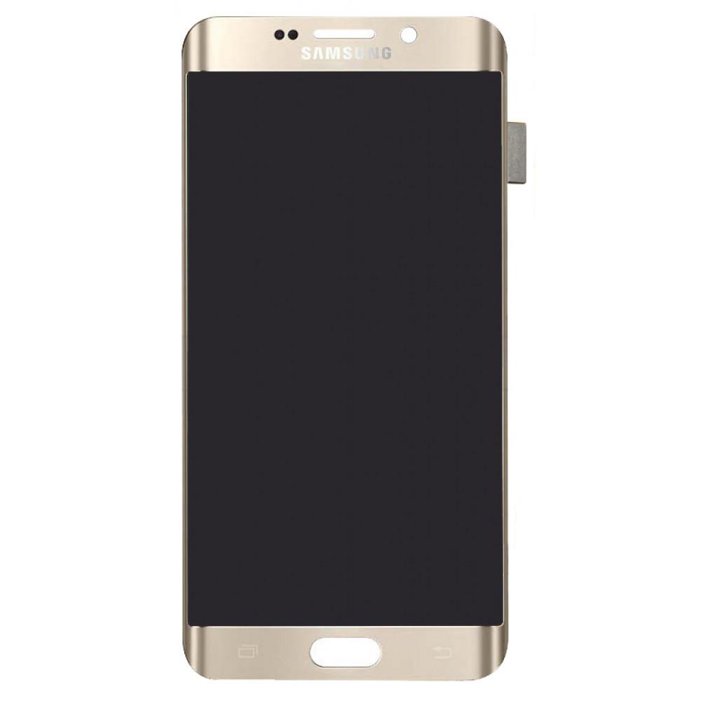 Дисплей для Samsung Galaxy S6 EDGE Plus (G928) в сборе с тачскрином, золотой
