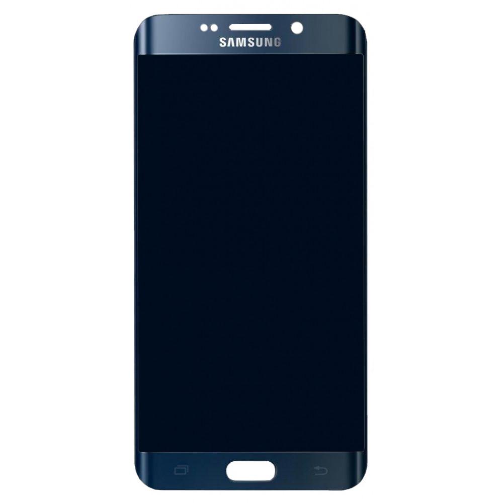 Дисплей для Samsung Galaxy S6 EDGE Plus (G928) в сборе с тачскрином и рамкой, черный