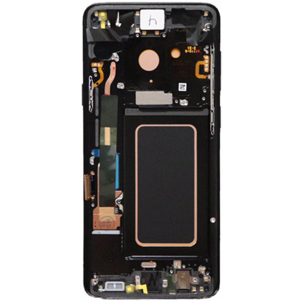 Дисплей для Samsung Galaxy S9 Plus в сборе с тачскрином и рамкой, черный