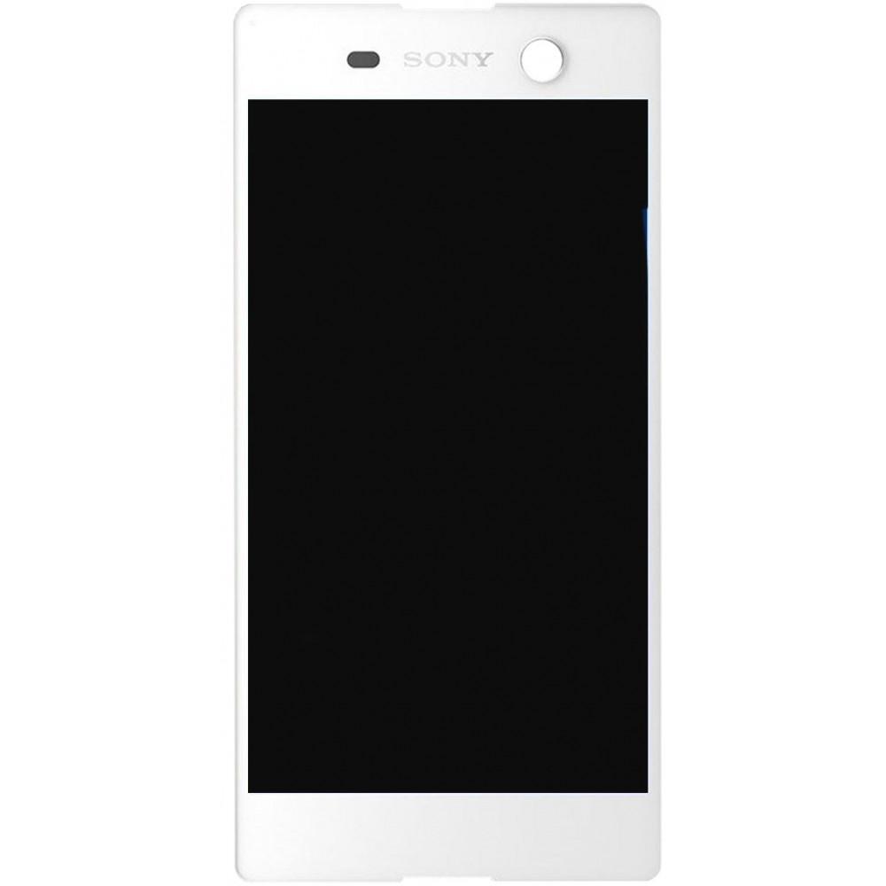 Дисплей для Sony Xperia M5 в сборе с тачскрином, белый