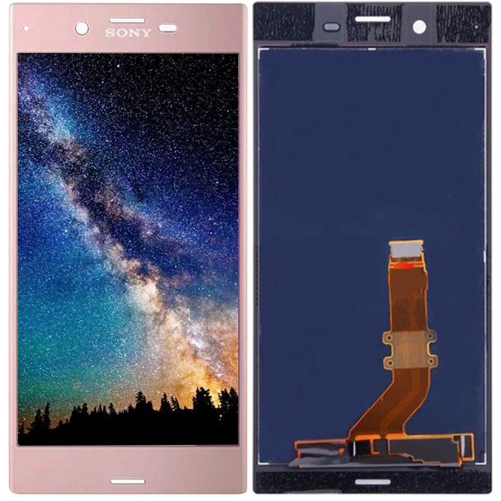 Дисплей для Sony Xperia XZ в сборе с тачскрином, розовый