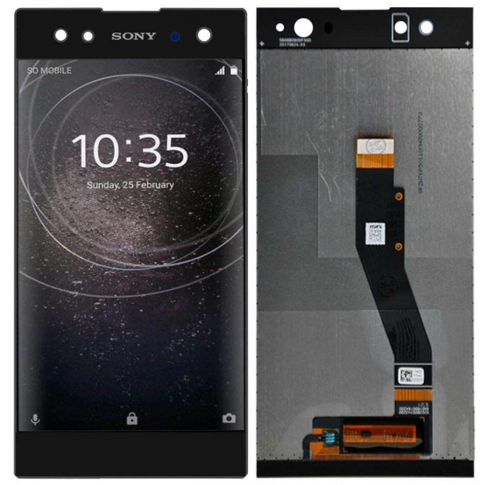 Дисплей для Sony Xperia XA2 Ultra в сборе с тачскрином, черный
