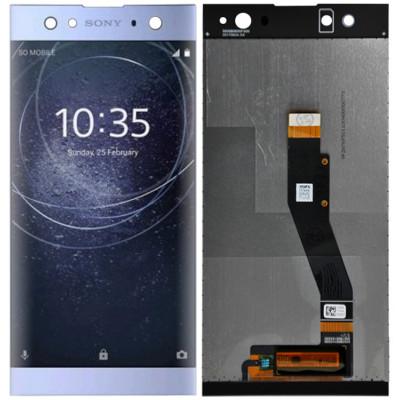 Дисплей для Sony Xperia XA2 Ultra в сборе с тачскрином, синий