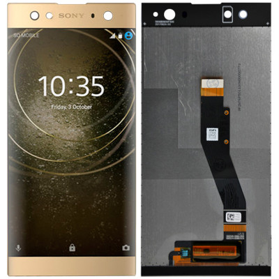 Дисплей для Sony Xperia XA2 Ultra в сборе с тачскрином, золото