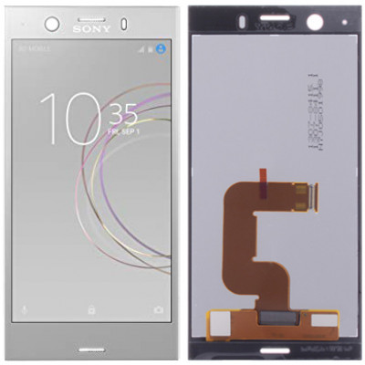 Дисплей для Sony Xperia XZ1 mini в сборе с тачскрином, серебро