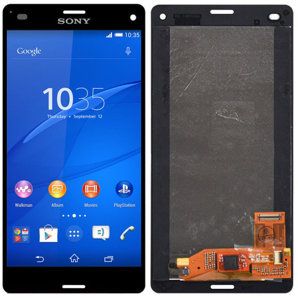 Дисплей для Sony Xperia Z3 Compact (D5803) в сборе с тачскрином, черный