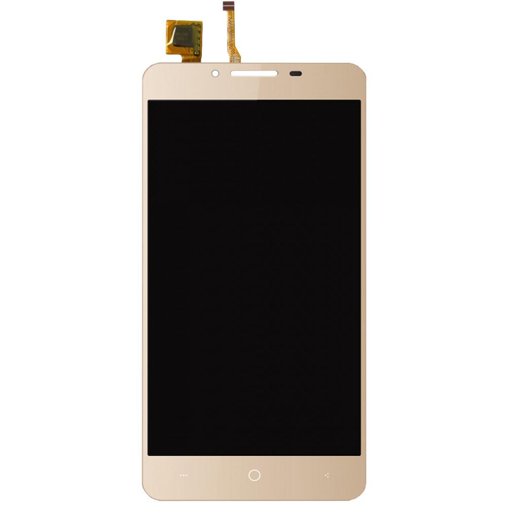 Дисплей для Vertex Impress Lion (3G Dual Cam) в сборе с тачскрином, золотой