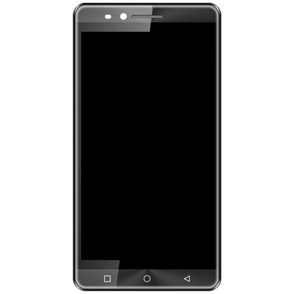 Дисплей для Vertex Impress Open в сборе с тачскрином и рамкой, серый
