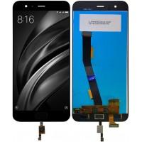 Дисплей для Xiaomi Mi6 в сборе с тачскрином и датчиком отпечатка, черный