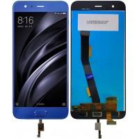 Дисплей для Xiaomi Mi6 в сборе с тачскрином и датчиком отпечатка, синий