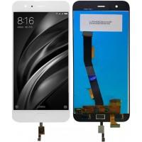 Дисплей для Xiaomi Mi6 в сборе с тачскрином и датчиком отпечатка, белый