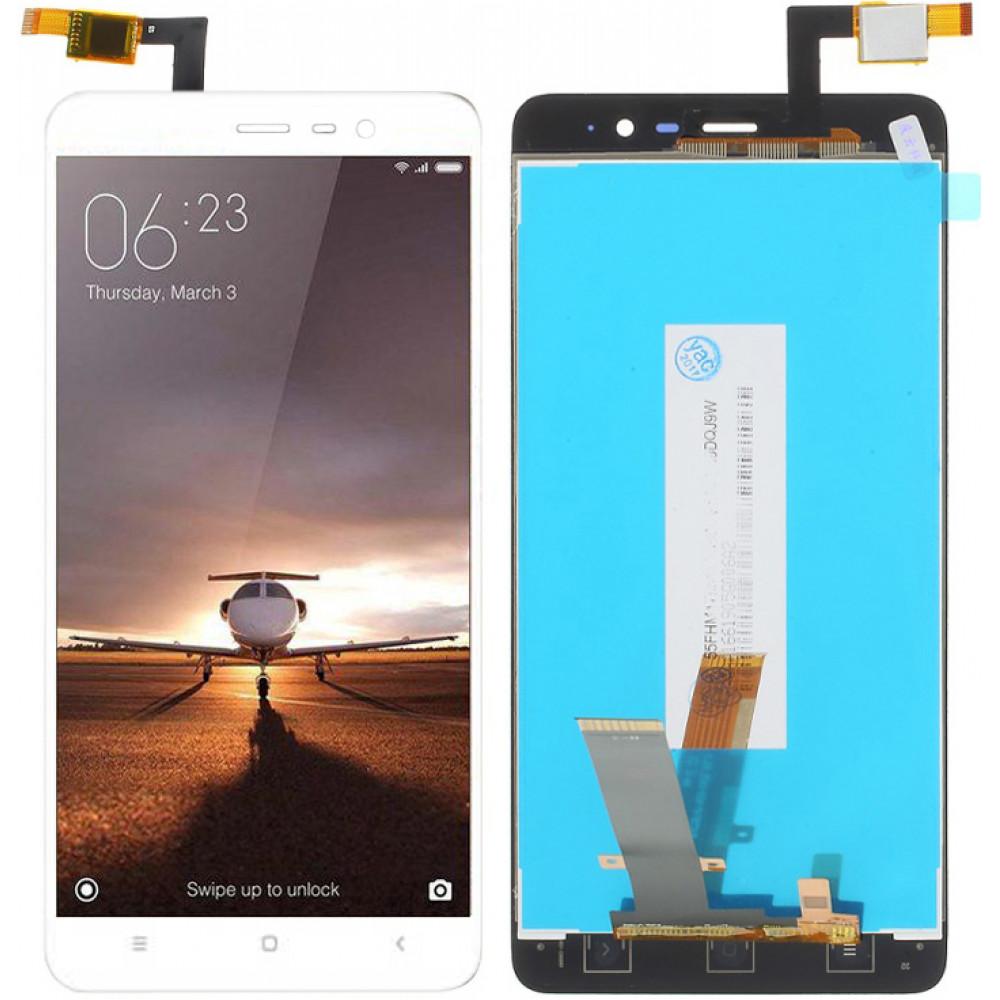 Дисплей для Xiaomi Redmi Note 3 Pro SE в сборе с тачскрином, белый