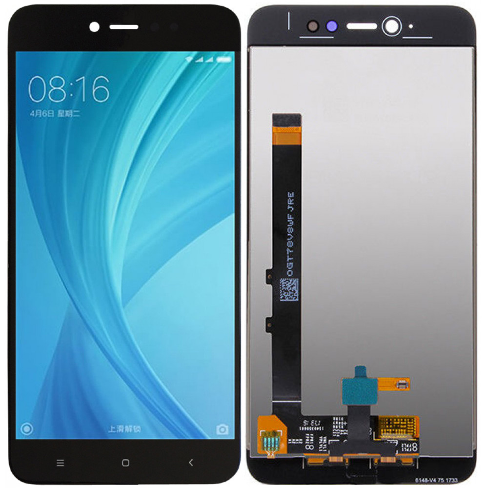 Дисплей для Xiaomi Redmi Note 5A Prime в сборе с тачскрином, черный
