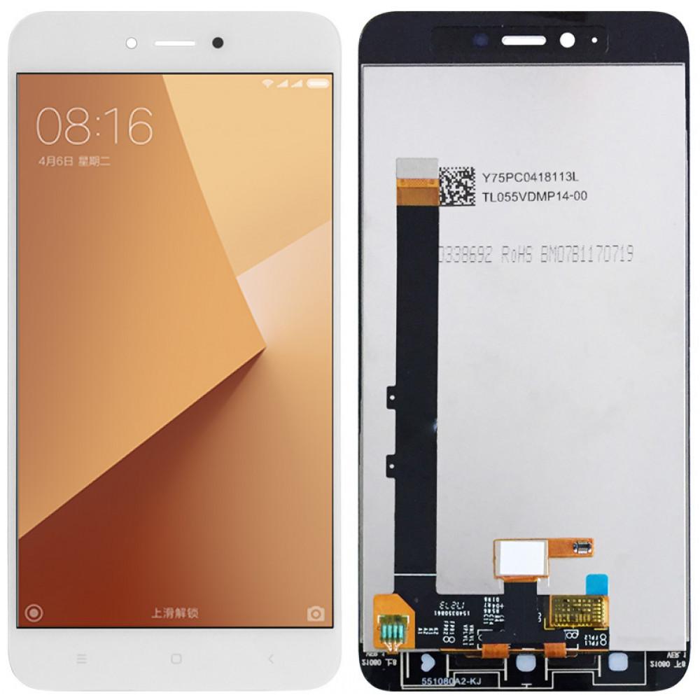 Дисплей для Xiaomi Redmi Note 5A в сборе с тачскрином, белый