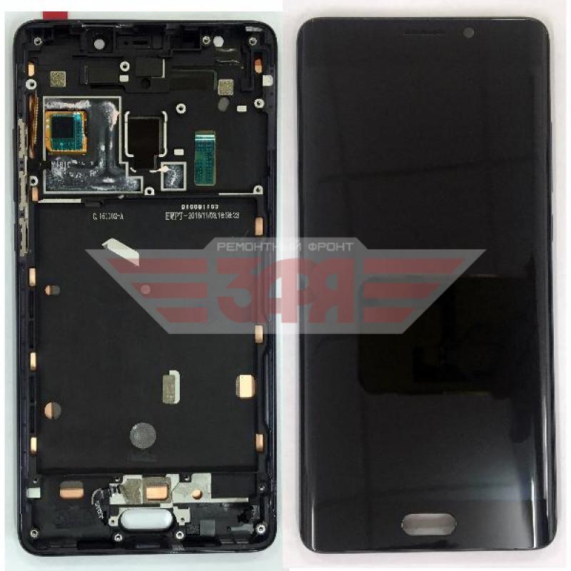 Дисплей для Xiaomi Mi Note 2 в сборе тачскрином и рамкой, черный