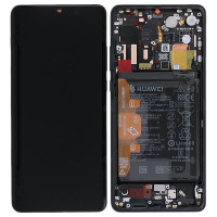Дисплей для Huawei P30 Pro в сборе с тачскрином и рамкой, черный